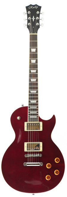 Rally GL-300 WR Flame Top WINE RED Electric Guitar