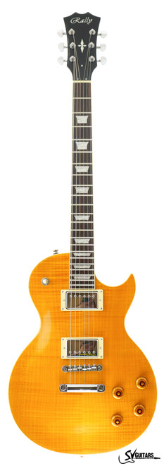Rally GL-300 TA Flame Top TRANS AMBER Electric Guitar