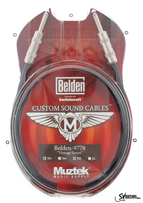 Muztek CSV-500 SS 5M Guitar / Instrument Cable (Belden 9778 + Switchcraft)