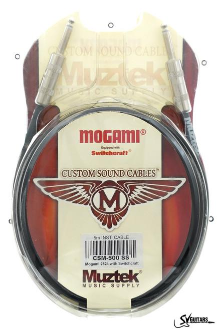 Muztek CSM-500 5M SS Custom Sound Guitar / Instrument Cable (Mogami + Switchcraft)
