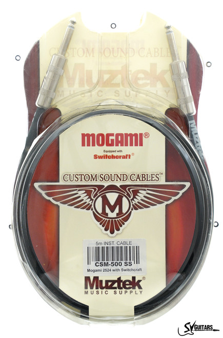 Muztek CSM-500 5M SS Custom Sound Guitar / Instrument Cable (Mogami + Switchcraft)