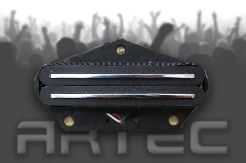 Artec VT-73 Hot Tele Pickup Bridge Black