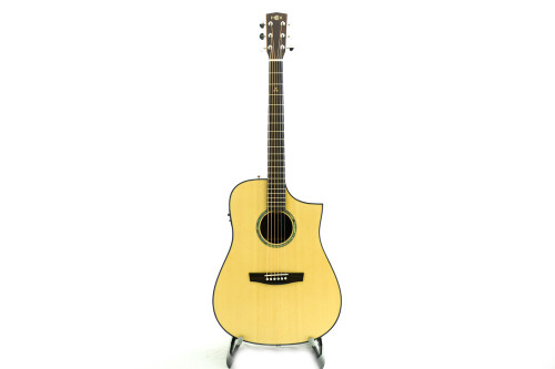 Hex D300CE M NATURAL Acoustic Guitar w/Fishman ISYS+