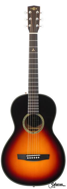Hex P300 G SUNBURST Parlor Size Acoustic Guitar