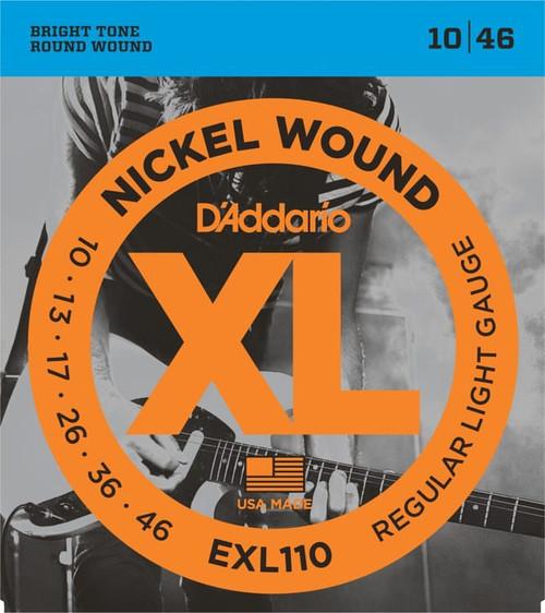D'addario EXL110 Nickel Wound Regular Light 10-46 (3 PACKS)