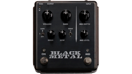 Egnater Black Metal Distortion Pedal with Mid Boost