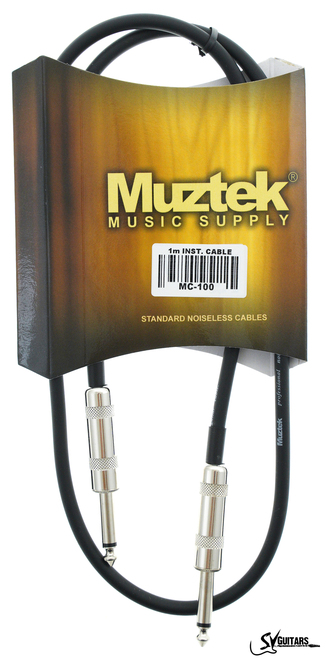 Muztek MC-100 Instrument Cable 1m