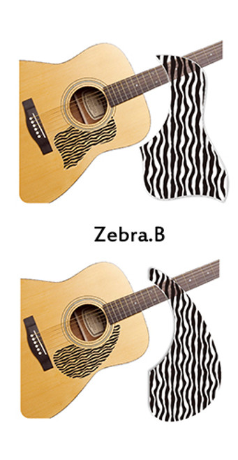 Healing Shield Acoustic Guitar Pickguard - Zebra B