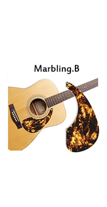 Healing Shield Acoustic Guitar Pickguard - Marbling B