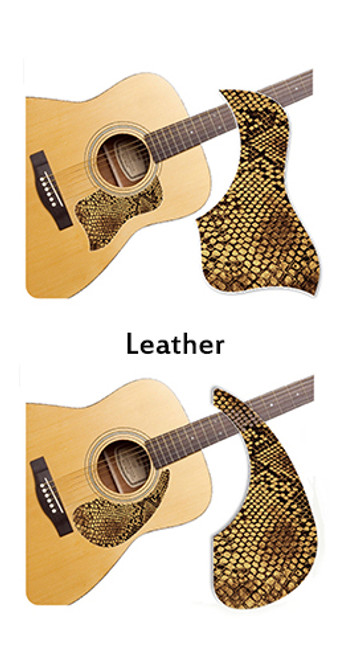 Healing Shield Acoustic Guitar Pickguard - Leather A