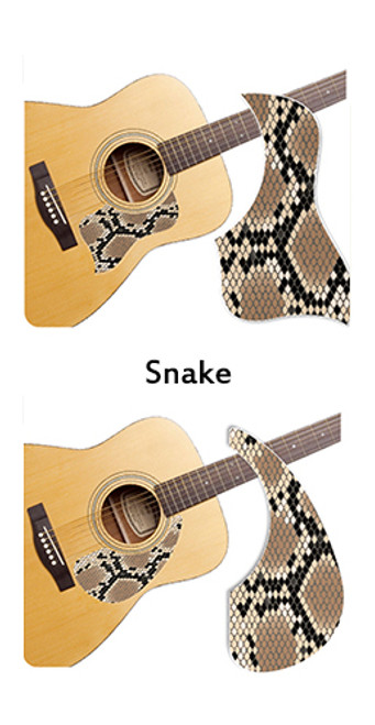 Healing Shield Acoustic Guitar Pickguard - Snake