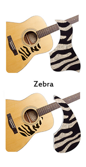 Healing Shield Acoustic Guitar Pickguard - Zebra A
