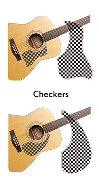 Healing Shield Acoustic Guitar Pickguard - Checkers A