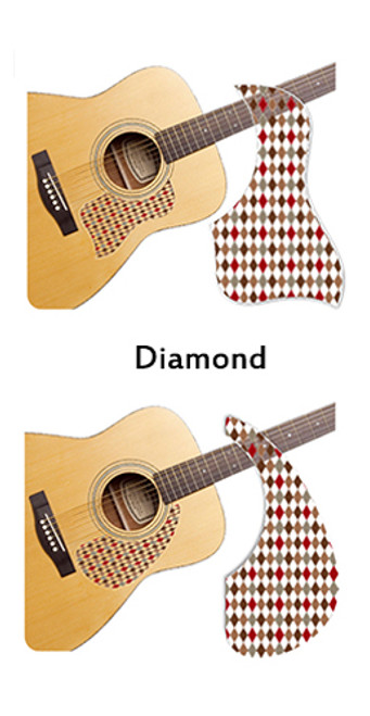 Healing Shield Acoustic Guitar Pickguard - Diamond