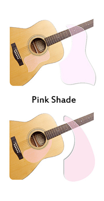 Healing Shield Acoustic Guitar Pickguard - Pink Shade