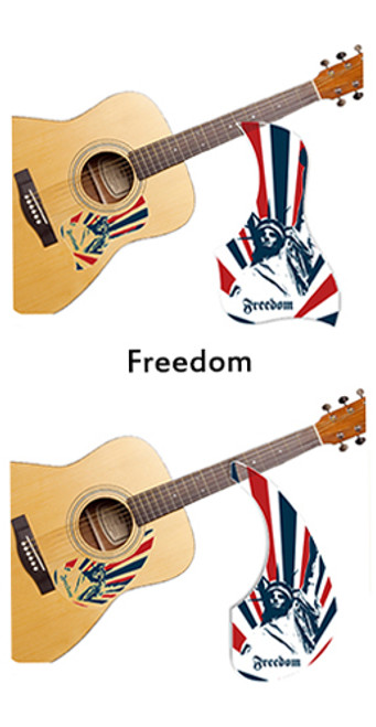 Healing Shield Acoustic Guitar Pickguard - Freedom A