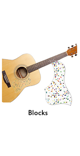 Healing Shield Acoustic Guitar Pickguard - Block A