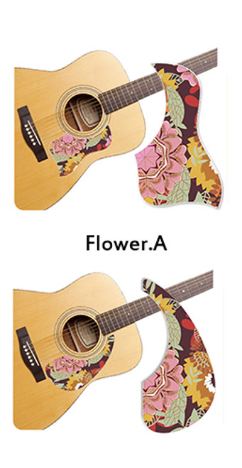 Healing Shield Acoustic Guitar Pickguard - Flower A