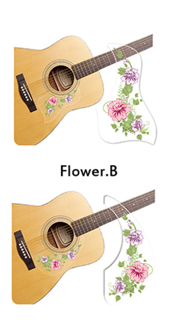 Healing Shield Acoustic Guitar Pickguard - Flower B