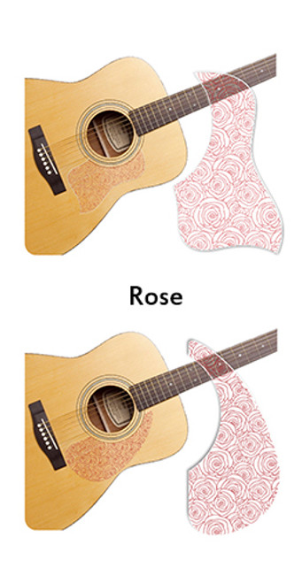Healing Shield Acoustic Guitar Pickguard - Rose