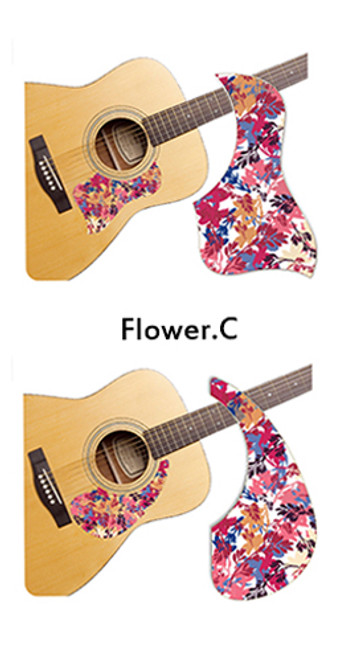 Healing Shield Acoustic Guitar Pickguard - Flower C