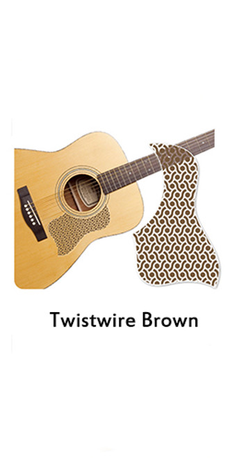 Healing Shield Acoustic Guitar Pickguard - Twistwire Brown