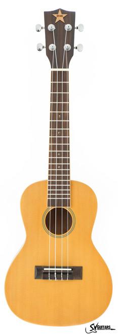 STAY HOME FLASH SALE - STAR 23 Natural FULL SOLID Concert Ukulele MODEL 2
