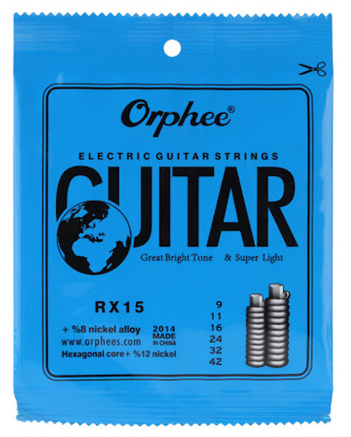 Orphee RX15 9-42 Electric Guitar Strings
