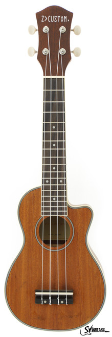 Z Custom ZC-GOLD Soprano Ukulele with Cutaway
