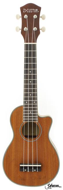 Z Custom ZC-GOLD Soprano Ukulele with Cutaway