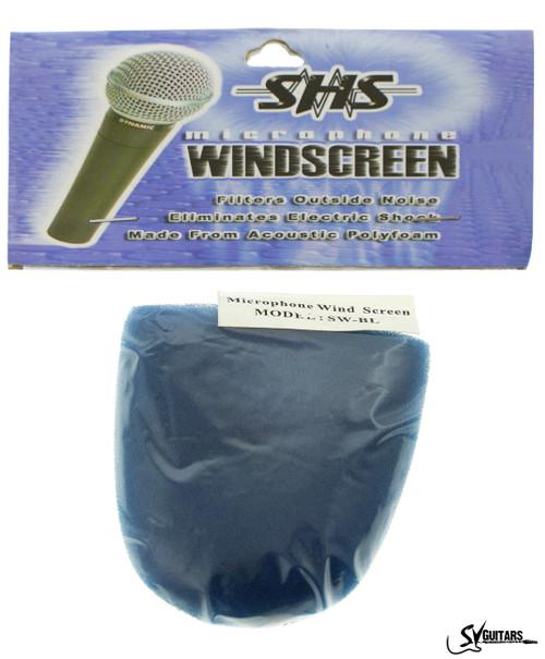 SHS SW-BL Microphone Sponge Wind Screen BLUE