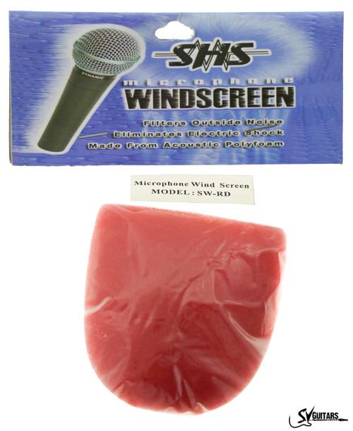 SHS SW-RD Microphone Sponge Wind Screen RED