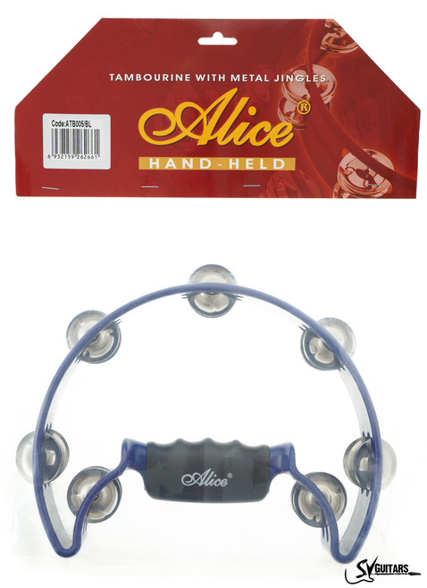 Alice ATB005 BL Half Moon Tambourine