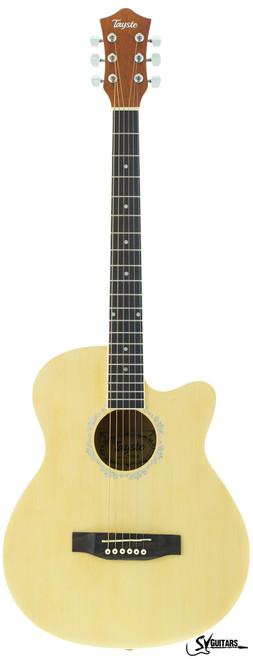 "Tayste T394 N 39"" Matt Natural Acoustic Guitar with Cutaway"