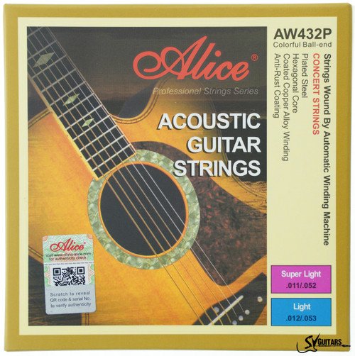 Alice AW432P-L 12-53 Coated Copper Alloy Acoustic Guitar Strings