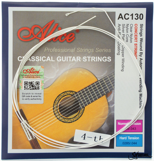 Alice AC130-H-4 4th Individual Hard Tension Coated Classical Guitar String