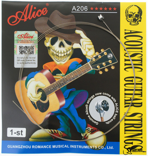 Alice A206-L-E1 012 Individual String for Acoustic Guitar