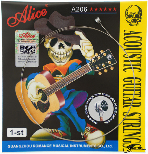 Alice A206-SL-E1 011 Individual String for Acoustic Guitar