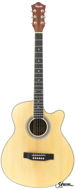 "Tayste T407 N 40"" Matt OM Acoustic Guitar"