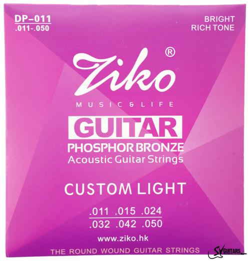 Ziko DP-011 11-50 Phosphor Bronze Acoustic Guitar Strings