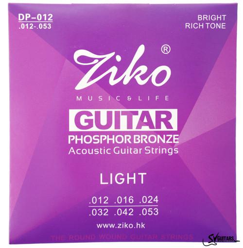 Ziko DP-012 12-53 Phosphor Bronze Acoustic Guitar Strings