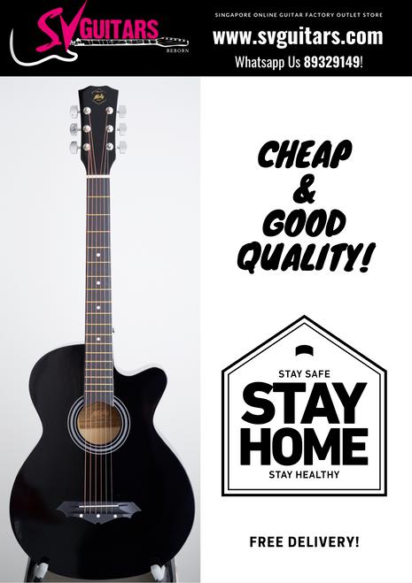 Moly AG-38BK Black Acoustic Guitar