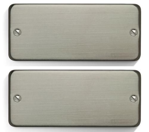 Bare Knuckle 7 ST SILO SET - No Screws Cover Brushed-Nickel-Soapbar - 10 degree slanted BP