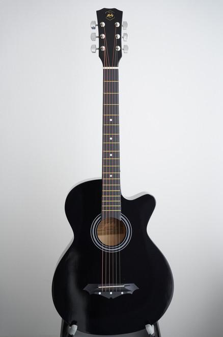 BLEMISH SALE - Moly AG-38BK Black Acoustic Guitar w/Free Delivery