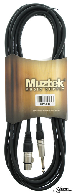"Muztek MPF-500 5M Mic Cable 1/4"" to XLR"