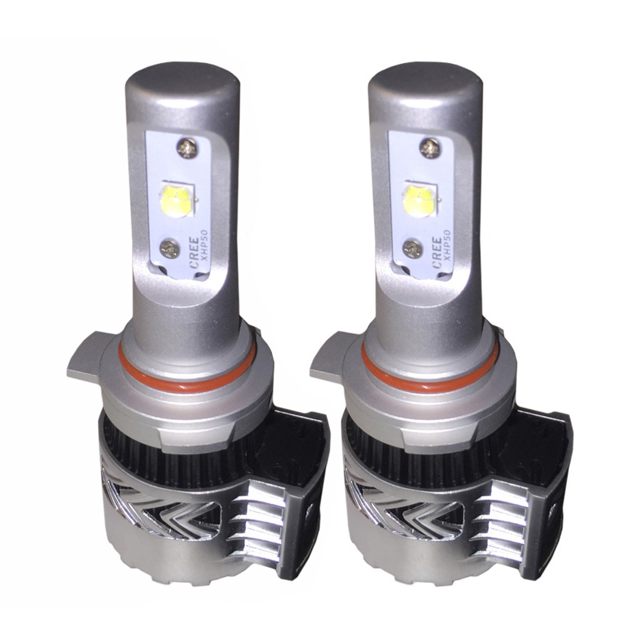 9012 (HIR2) 8G v 2 12000lm 72W CREE LED Headlight kit, cooling fan and  external LED driver, 6V DRL Compatible