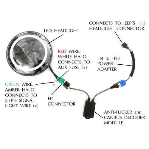 Jeep Drl Halo Headlight Wiring Diagram. . Wiring Diagram Halo Head Light Wiring Diagram on