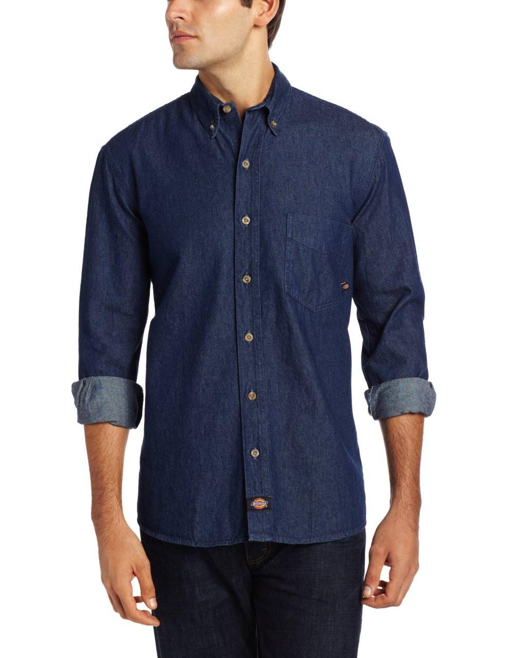 d9650bd893 Dickies WL300 Camisa de Mezclilla Manga Larga - BODEGA DE UNIFORMES ...