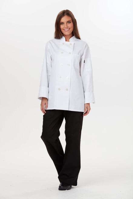 Dickies Chef DC414-WHT Filipina de Chef para Mujer