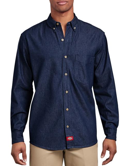 Dickies WL300 Camisa de Mezclilla Manga Larga